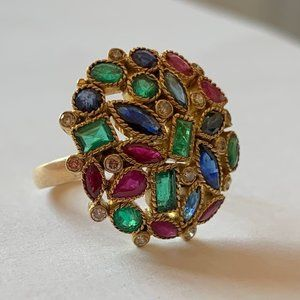 Fine Jewelry - Gold Ring with Gemstones